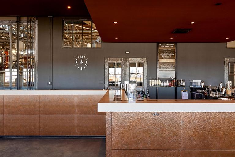 Alameda distillery tasting room commercial construction