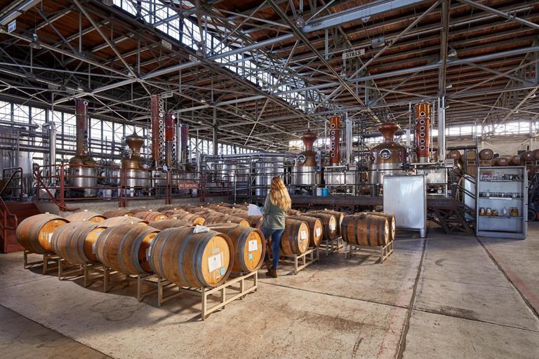 Alameda distillery stills and barrel house commercial construction