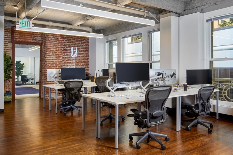 San Francisco tenant open office workspace commercial construction