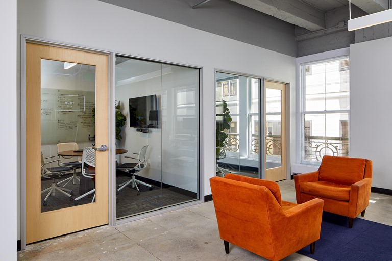 San Francisco tenant mini conference & phone rooms commercial construction